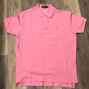 Ralph Lauren Pink Polo - Size L
